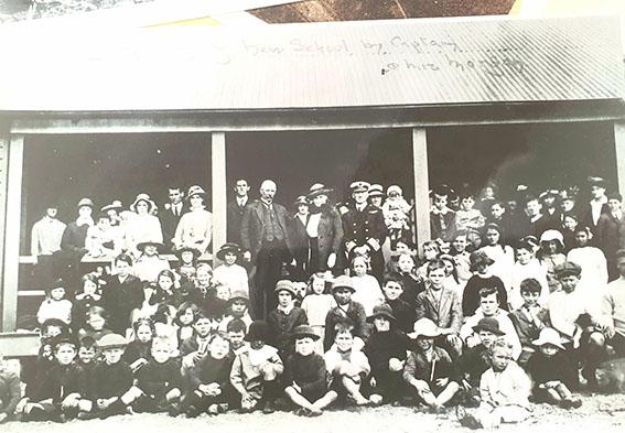 Opening of school, 1914